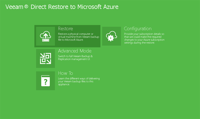 Direct Restore to Azure for Veeam Backups